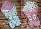 Конверт- одеяло для новорожденного всесезонный Мишки, фото 10