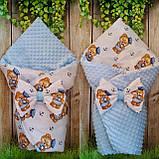 Двухсторонний конверт со съемным синтепоном для новорожденных Зайка, фото 4