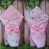 Двухсторонний конверт со съемным синтепоном для новорожденных Зайка, фото 5