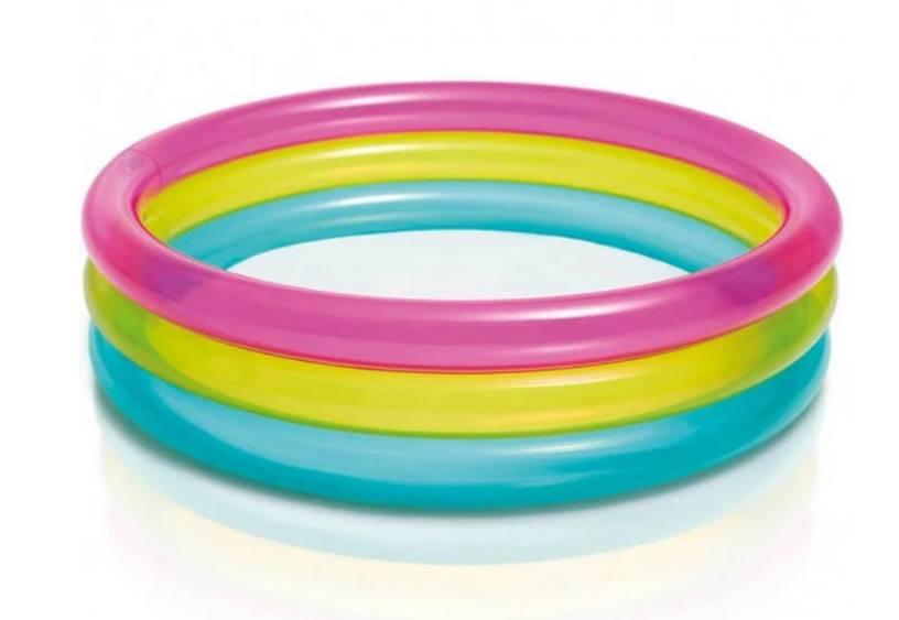 Бассейн  круглый, 3 кольца, 68 л, 86-25см,  57104
