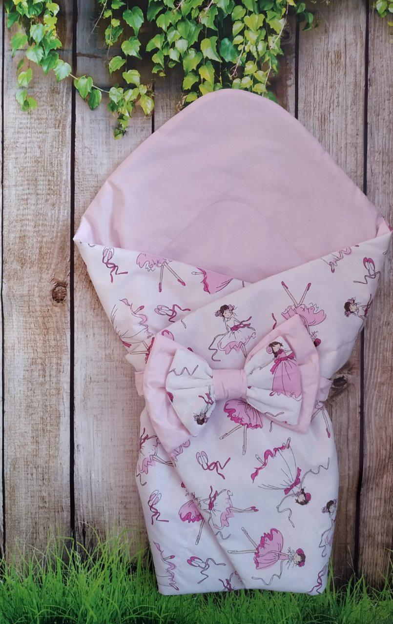 Конверт- одеяло для новорожденных Балерины, всесезонный