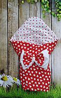Конверт- одеяло  двухсторонний  всесезонный  Сердечки, фото 1