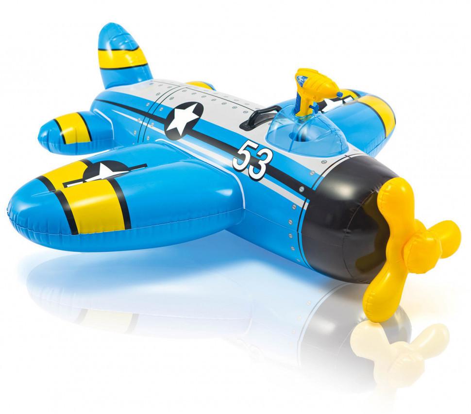 Самолет -плот с водным пистолетом 57537 (Синий)