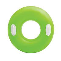 Детский надувной круг с ручками  Зелёный, 59258