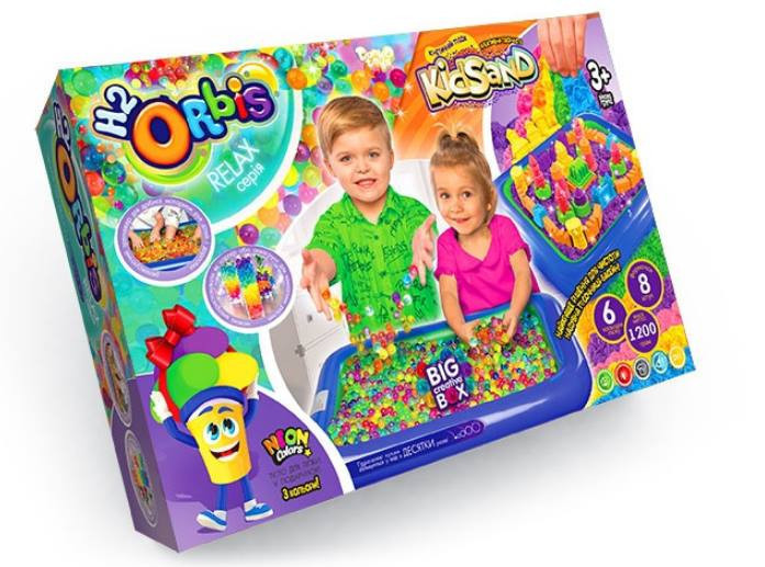Кинетический песок и орбиз Danko Toys 3в1 Big Creative Box ORBK-01