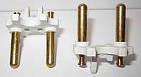 Комплектующая для литых электрических вилок (материал - латунь, диаметр ножки - 5 мм, цвет пластика - белый, о, фото 1