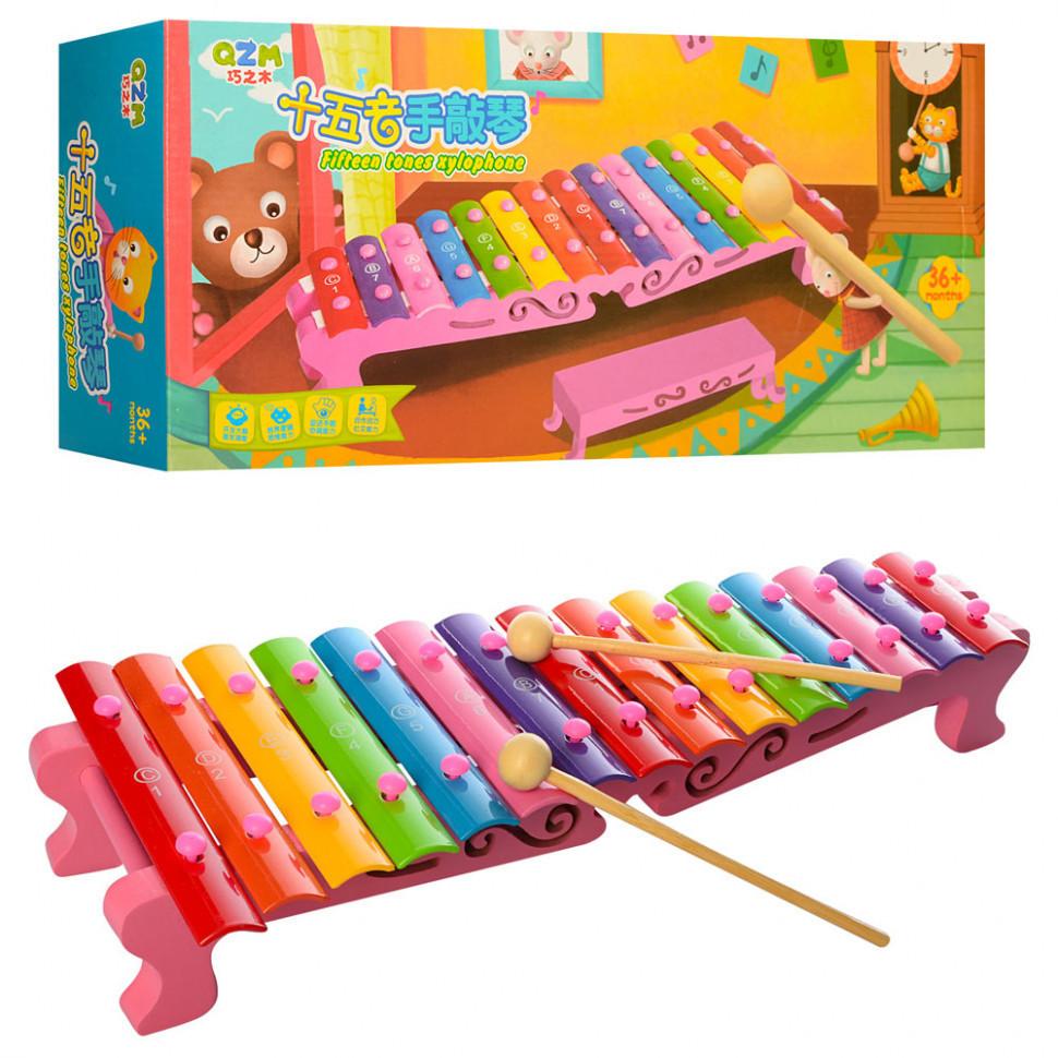 Деревянная игрушка Ксилофон MD1275