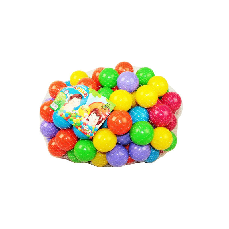 Шарики мячики 17101 для сухих бассейнов, 60 мм,  100 шт