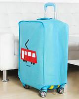 ✅ Чехол на чемодан Blue