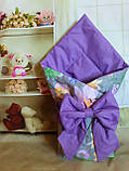 Конверт- одеяло  на выписку  и для прогулок  Якоря, фото 6