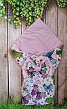 Конверт- одеяло  на выписку  и для прогулок  Якоря, фото 7
