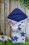 Конверт- одеяло  на выписку  и для прогулок  Якоря, фото 10