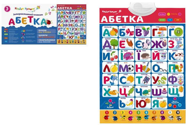 "Плакат обучающий ""Абетка"" KI-7032 укр."