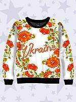 Детский свитшот Украина цветочная
