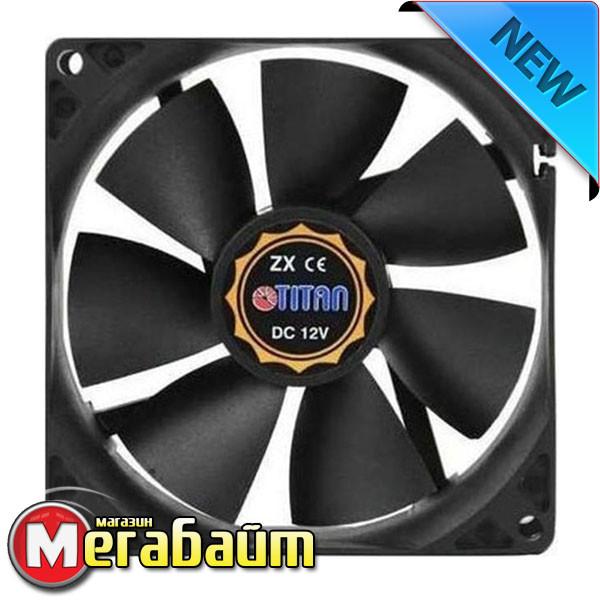 Вентилятор Titan DCF-8025L12S, 80x80х25 мм, 3-pin, черный