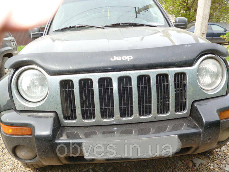 Дефлектор капота (мухобойка) Jeep Liberty (KJ) с 2001–2007 г.в.
