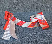 Ремень Off-White striped red-white, Реплика, фото 1