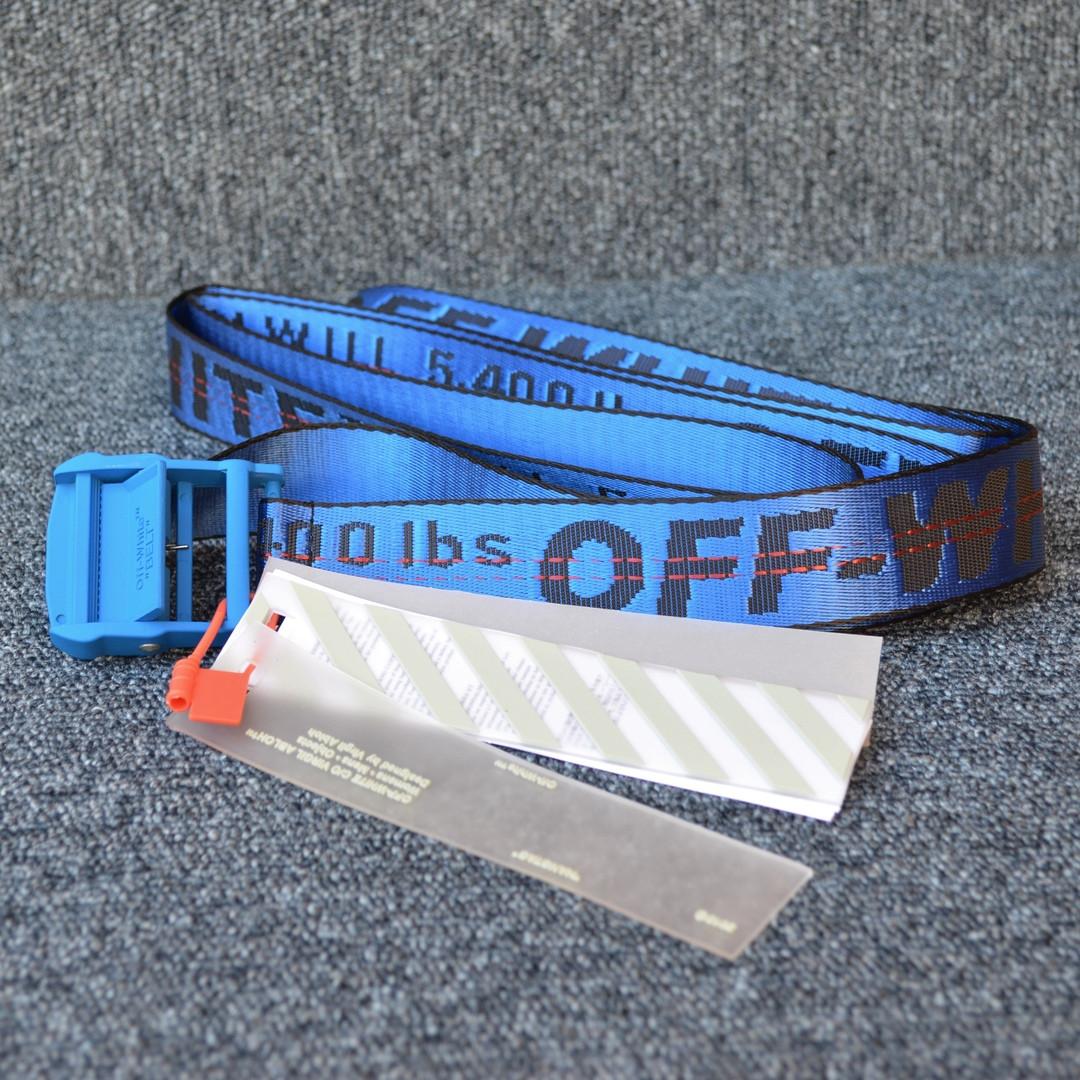 Ремень Off-White striped blue lux, Реплика