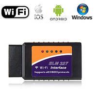 Диагностический сканер адаптер OBD2 ELM327 Wi Fi (поддержка IOS, Android) Автосканер
