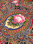 Русское раздолье 1619-5, павлопосадский платок шерстяной (двуниточная шерсть) с шелковой бахромой, фото 4
