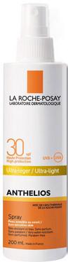 Водостойкий солнцезащитный спрей для лица и тела La Roche-Posay Anthelios Ultra Light Spray SPF 30