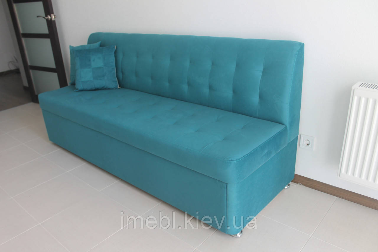 Кухонні м'яка лавочка зі спальним місцем (Блакитна)