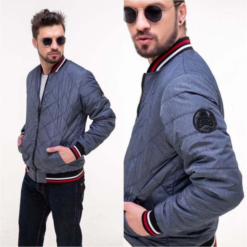 Стильная куртка мужская -бомбер  мод.1188