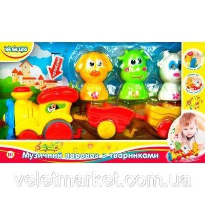 Музыкальная игрушка BeBeLino Паровозик с животными (57077-2)