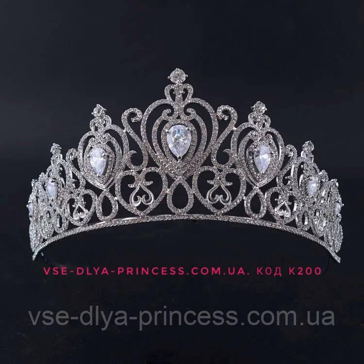 Корона, диадема, тиара под серебро, высота 6,5 см.