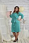 Бірюзовий костюм великий розмір 42-74. 0441-3, фото 3