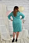 Бірюзовий костюм великий розмір 42-74. 0441-3, фото 4