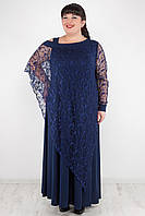 Вечернее  длинное платье больших размеров