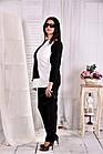 Чорно-біла блузка великого розміру 42-74 0565 -1, фото 2
