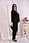 Чорно-біла блузка великого розміру 42-74 0565 -1, фото 3