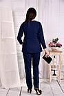 Синя з білим блузка 0565-2 (класно поєднується з брюками 030-2), фото 4