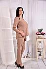 Светлая нежная блузка из костюмки 0565-3 (на фото с брюками 030-3), фото 3