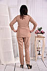 Светлая нежная блузка из костюмки 0565-3 (на фото с брюками 030-3), фото 4