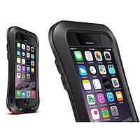 Чехол противоударный Love Mei Gorilla Glass для Apple iPhone 6 6S Plus черный