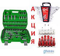 !АКЦИЯ! Набор инструментов головок, ключей Intertool 94 +12 +6 отверток ( Интертул ET-6094SP, HT-1203,VT-2005)