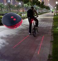 LED, светодиодная велосипедная подсветка с лазерными линиями по бокам для велосипеда