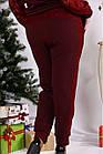 Червоний костюм двійка з гіпюром великий розмір 42-74.0670-2., фото 4