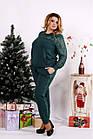 Зелений костюм двійка з двухнитки великий розмір 42-74.0670-3., фото 2