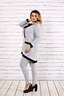 Светло-серый костюм из двухнитки большого размера 42-74.   0700-1, фото 2
