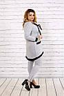 Светло-серый костюм из двухнитки большого размера 42-74.   0700-1, фото 3