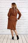 Строгий костюм вискарного кольору великого розміру 42-74   0748-2, фото 4