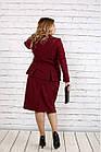 Деловой костюм винного цвета большого размера 42-74 . | 0748-3, фото 4