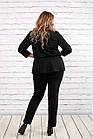 Чорний костюм двійка з трикотажу великого розміру 42-74   0756-1, фото 4