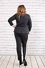 Серый универсальный костюм большой размер   0756-3, фото 4
