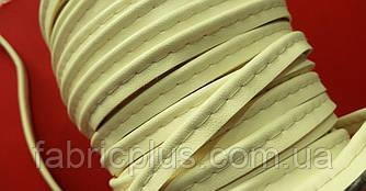 Кант встрочной 9 мм бежевый (искусственная кожа) матовый