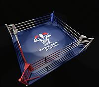 Боксерский ринг напольный, профессиональный 4,5х4,5 метра
